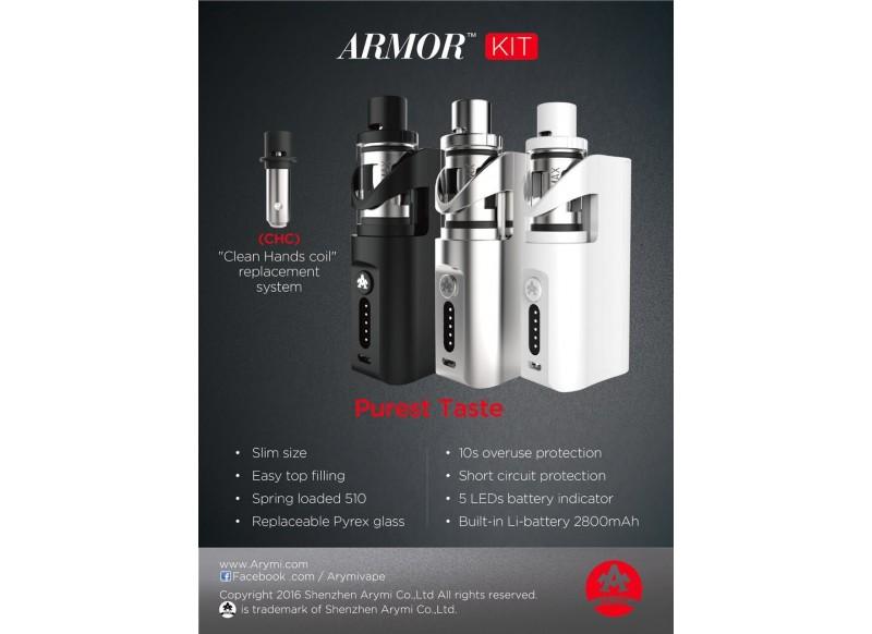 Kangertech Arymi Armor Starter Kit Grip stříbrná 2800mAh