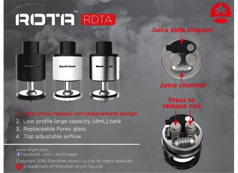 Kangertech ROTA RDTA tank černá